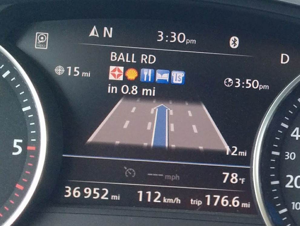 RNS850 navigation - travel services in dashboard - Club Touareg
